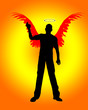 Silhouetted Angel