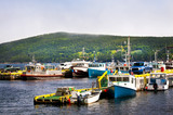 Fishing boats in Newfoundland poster