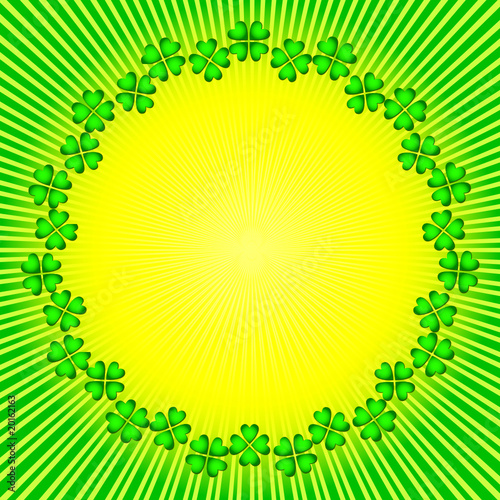Abstract background with sun and clever