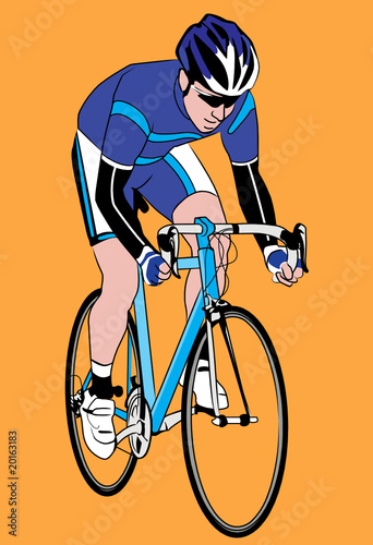 vector illustration of a biker