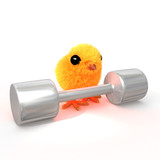Weightlifter chick poster