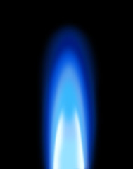 Gas flame on stove