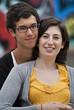 Attractive teenage couple