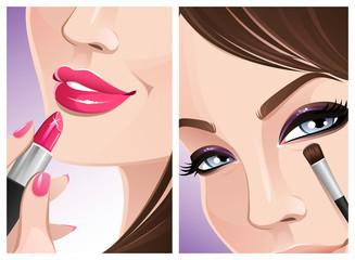 Makeup close-up