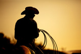 rodeo cowboy silhouette - 20168558