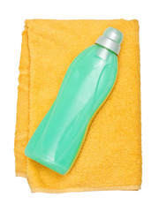 Bottle on the towel