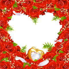 Greeting card with roses 4