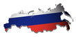 Russland Karte 3D Flagge