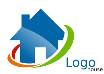 Logo maison arcs bleu vert orange rouge