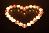 a heart of candles_3