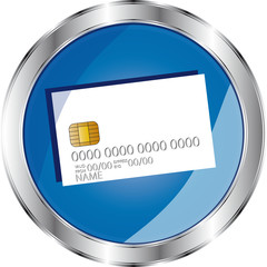 pulsante blu card