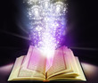 light & glow elements resembling miracle coming out from quran