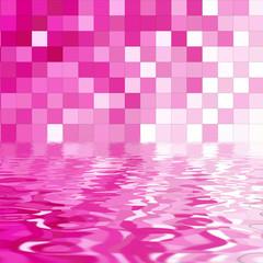 fondo mosaicos rosas y agua