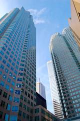 Immeubles et buildings d'affaires dans une mégalopole