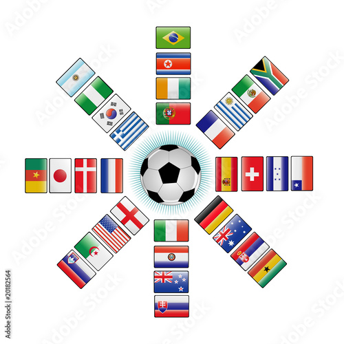banderas del mundial 2010