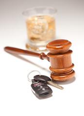 Gavel, Alcoholic Drink & Car Keys
