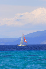 Sailing yacht in the Aegean