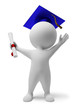 3d small people - diploma