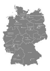 Deutschland, Bundesländer, Landeshauptstädte