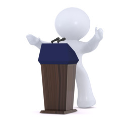 The  politician  at the Podium