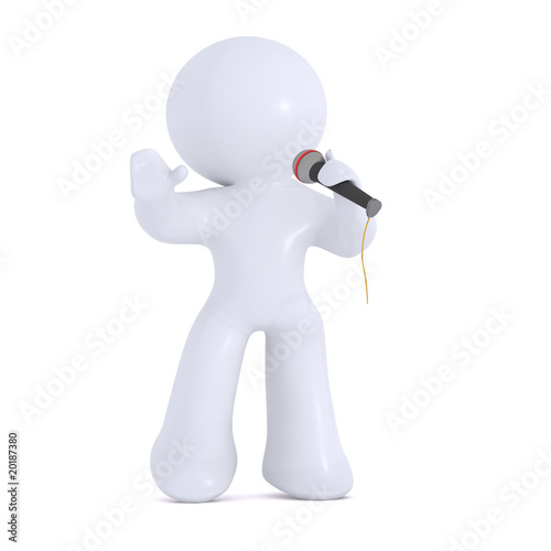 Entertainer with the microphone