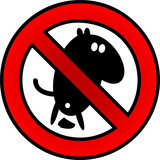 Vector no dog poop sign