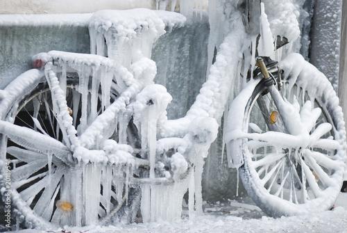 Leinwandbild Motiv Stilles Fahrrad