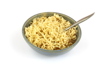 Noodles with spoon