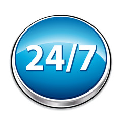 Blue 24/7 service button.