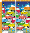 Find ten differences puzzle - cars and trucks on the road