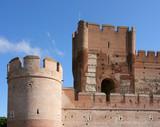 Fortified castle in Medina del Campo, Spain