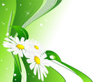 abstract spring background with  plants. Eps 10 poster