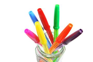 Ballpoint Pens in Glass Jar