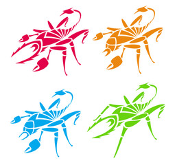 Scorpions and spiders