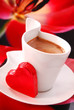 coffee with red heart