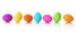 Colorful Easter eggs in a row - 20201782