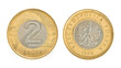 2 zloty - money of Poland
