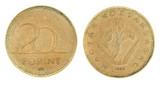 20 Forint - hungarian money poster