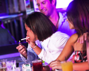 Young adults at a nightclub