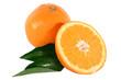 Orangen und Orangenbaumblätter