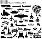 Fototapety transportation graphic collection individually layered