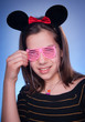 beauty girl with Mini Mouse ears