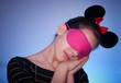 beauty girl with sleeping mask