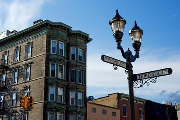 Corner of Washington and Third streets in downtown Hoboken, NJ