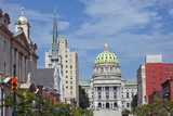 State street with Capitol building, Harrisburg, PA