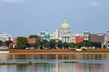 Harrisburg panorama with Capitol building