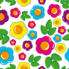 Easter Floral  Seamless background