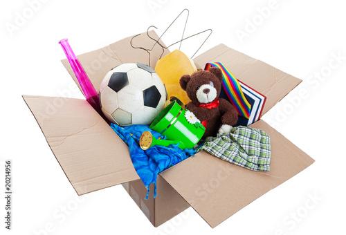 Leinwandbild Motiv Box of Junk