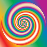 psychedelic rainbow poster