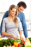 Fototapety Couple at kitchen